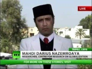Mehdi Darius N saat meliput konflik Libya