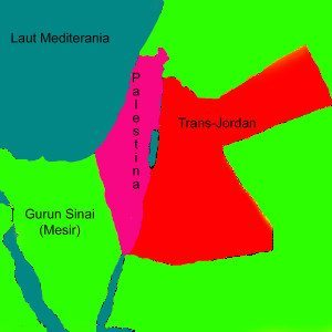peta palestina era mandat-inggris