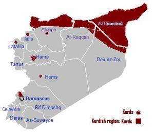 wilayah kurdi suriah