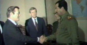 Rumsfeld bertemu Saddamm di Baghdad (1983)