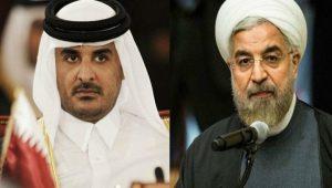 rouhani dan emir qatar syeikh Tamim bin Hamad al-Thani