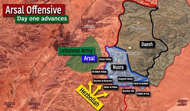 hizbullah vs al-nusra di arsal