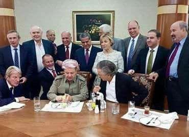 Bernard-Henri Levy dan Masoud Barzani