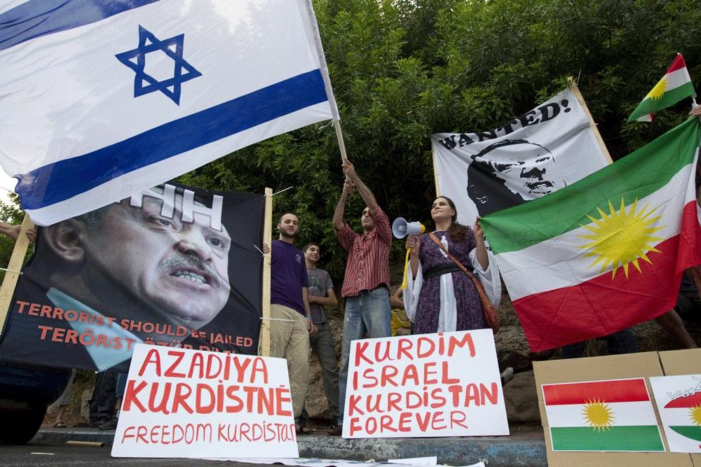 Demo orang Kurdi-Israel di Tel Aviv, Israel, 8 Juli 2010.