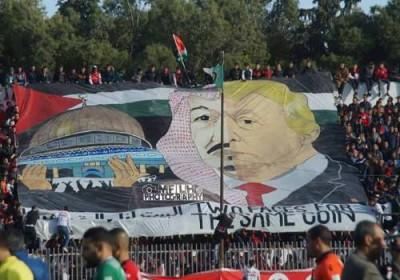 poster trump dan salman di aljazair