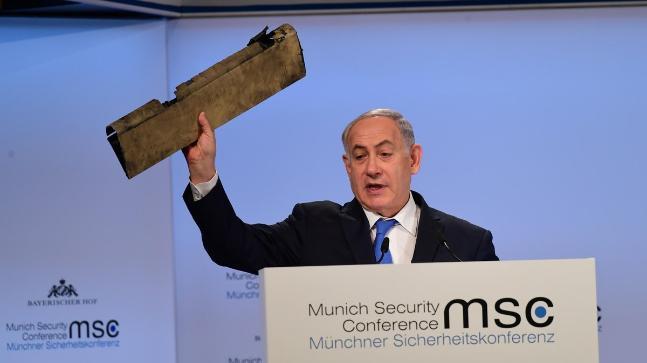 Netanyahu-serpihan nirawak iran