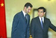 Presiden Assad dan Presiden China Hu Jintao (Beijing, 2004)
